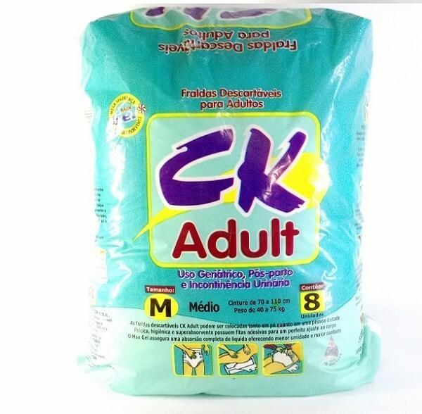 64f2f2011 Fralda geriatrica CK Adult tamanho médio com 8 unidades