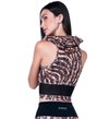 Blusa Cropped  Leopard Print