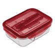 POTE VIDRO RETANG C/DIVISORIA MARMITA 1L | RECTANGULAR GLASS LUNCH BOX WITH DIVISIONS 1L | POTE VIDRIO RECTANG C/DIVISORIA MARMITA 1L