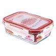 POTE RETANG VIDRO SANREMO 550ML | GLASS RECTANGULAR CONTAINER SANREMO 550ml | POTE RETANG VIDRIO SANREMO 550ML