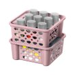 CESTA EMPILHAVEL PLASTICO SANREMO 746ML | PLASTIC STACKABLE BASKET SANREMO 746ML | CANASTA APILABLE PLÁSTICO SANREMO 746ML