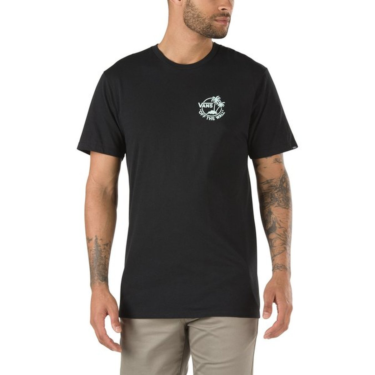 CAMISETA VANS MINI DUAL PALM III BLACK-BAY