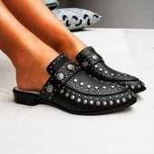 Mule Beta Studded Black