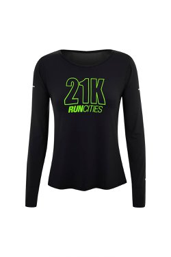 Camiseta Run Cities Ml Preto