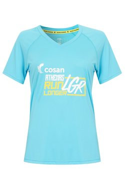 Camiseta Athenas Run Longer Azul Clara Fem