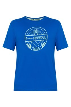 Camiseta Run The Bridge Azul e Verde Masc