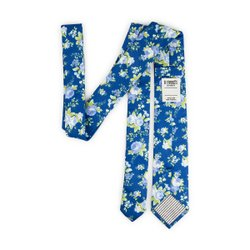 Gravata Slim - Floral Royal