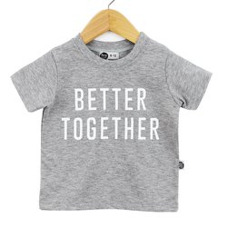 Camiseta Infantil Unissex Better Together Fundo Mescla