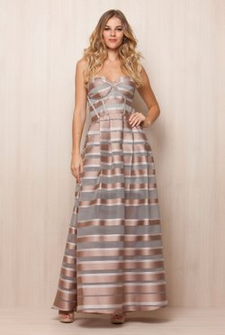 Vestido Bronze Stripes