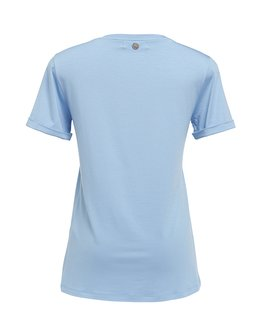 T-SHIRT GOLA V MODAL - LIGHT BLUE