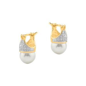 Imagem do produto Brinco Crown Pérola Folheado a Ouro 18k 2ba731a128