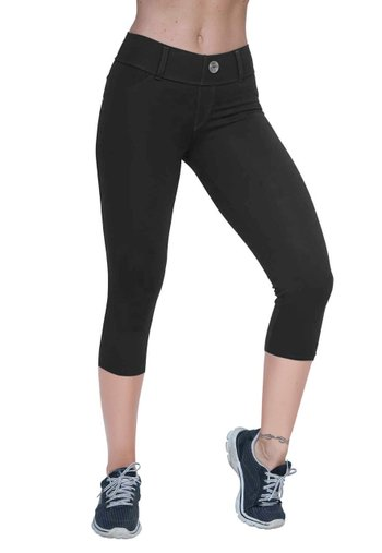 Corsário Jeans Black Supplex