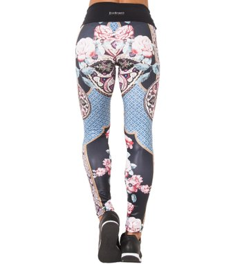 Legging Essencial Colorful Roses Print