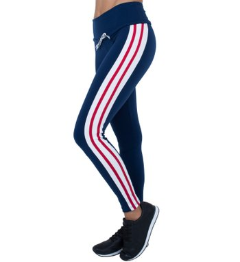 Legging Breeze Navy Red Supplex