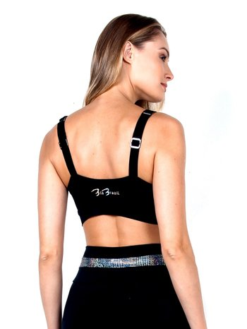 Top Black Sparkle Supplex
