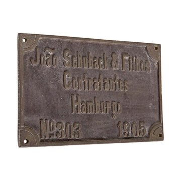 Placa Hamburgo 1905