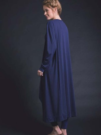 Cardigan Longlight coat Azul