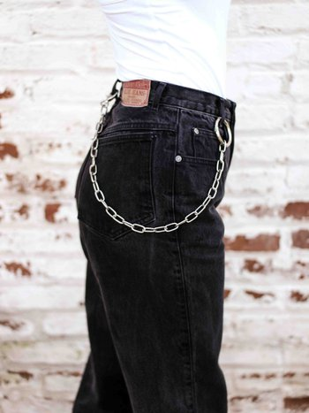 Wallet Chain Belt Prateado
