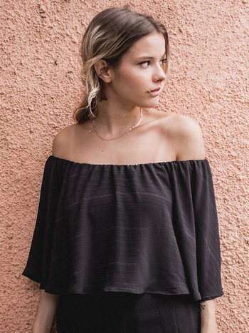 Cropped Bliss Preto