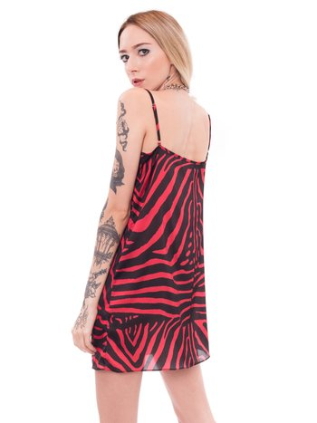 Slipdress RED ZEBRA Saloon 33