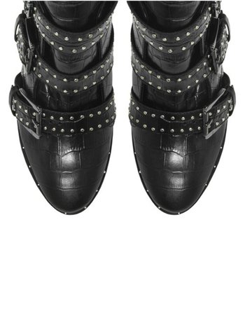NIKI BOOT CROCO BLACK