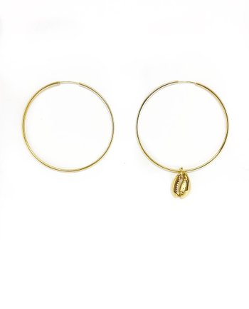Argola Maxi Gold Coquillage