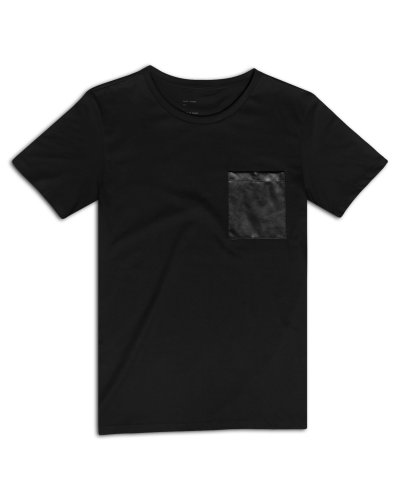 T-Shirt Leather Pocket