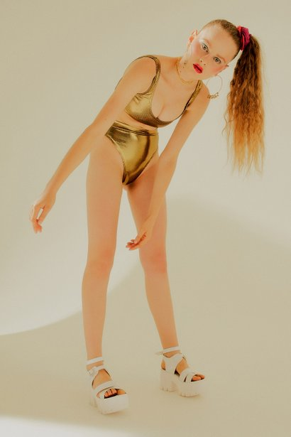 Hot Pants Britt Gold Holographic