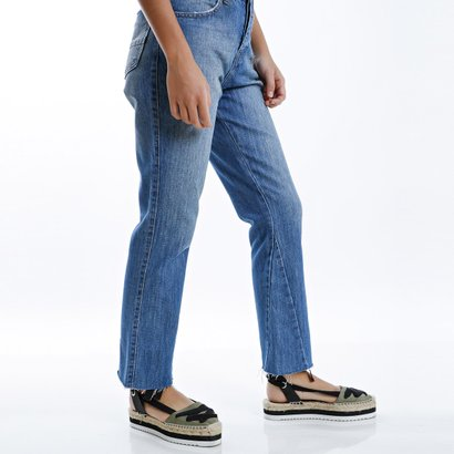 Calça jeans mom cropped