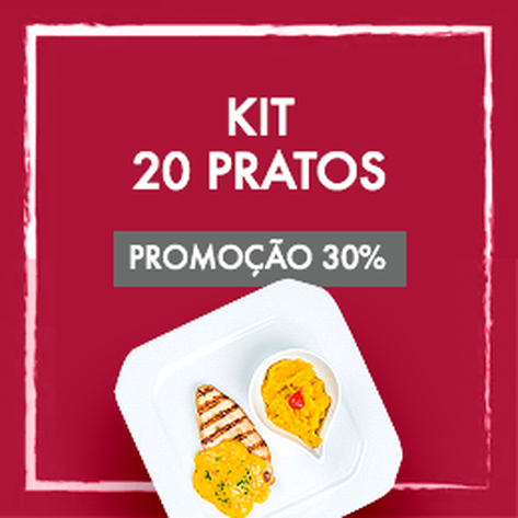 Kit 20 Pratos Low Carb