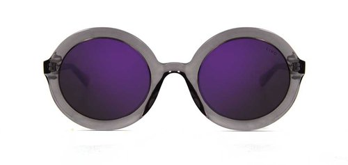 Rita Solar Cinza Cristal Purple-Mirror | Rita Crystal Grey W/ Purple Mirror