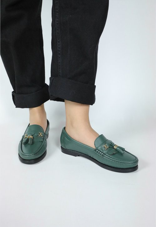 COLLEGE SHOES mocassim - verde escuro