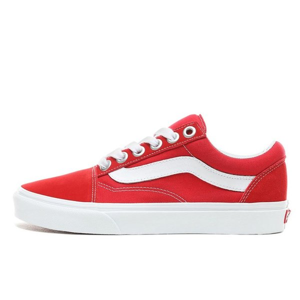 TÊNIS VANS OLD SKOOL OS RACING RED/TRUE WHITE