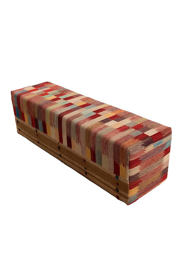 Foto do produto PUFF KILIM BOX BIN MULTI COLOR