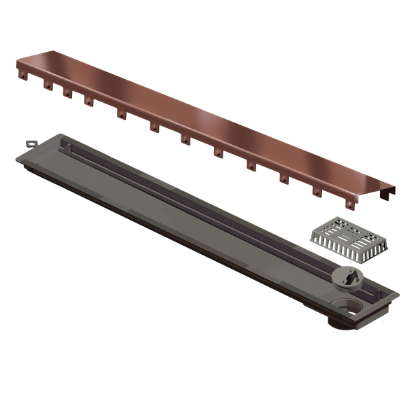 Foto do produto RALO LINEAR VERSATILLE 75CM TAMPA ROSE GOLD