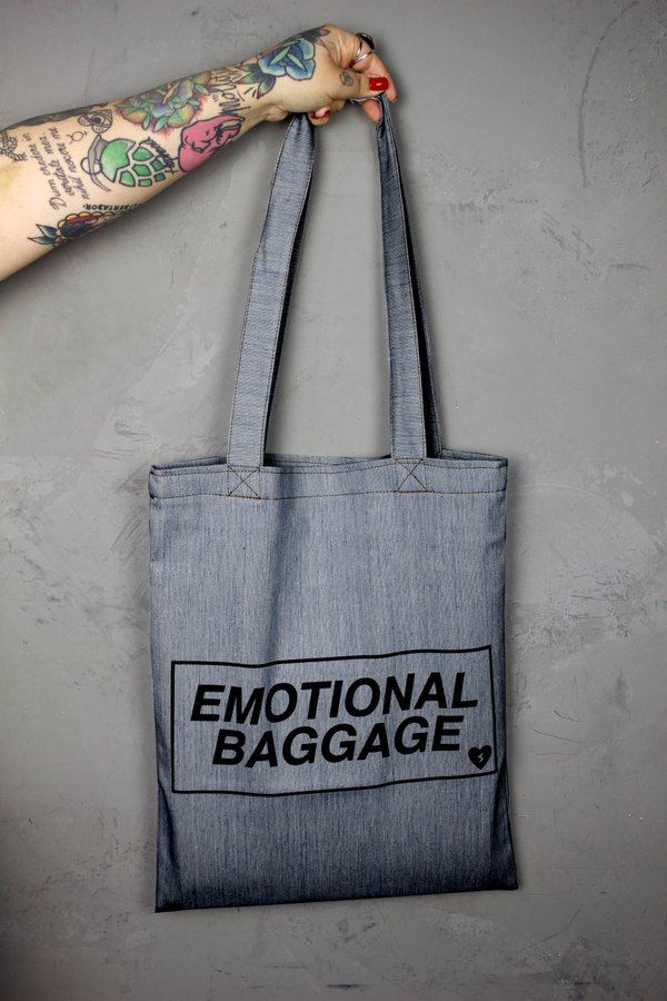 Foto do produto BOLSA EMOTIONAL JEANS DARK