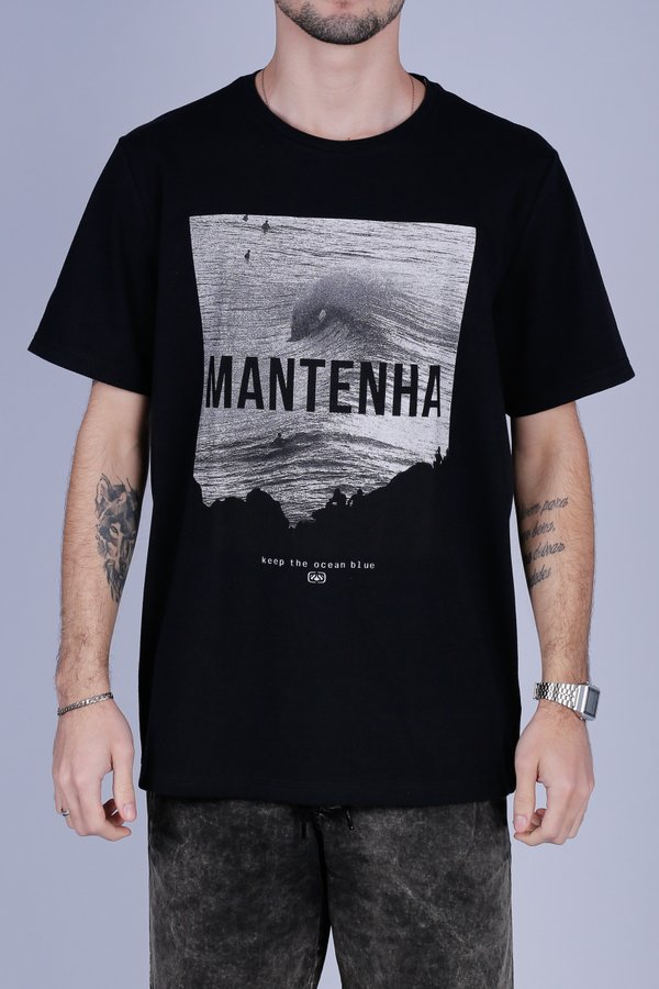 CAMISETA OCEANO KEEP MANTENHA RECICLE