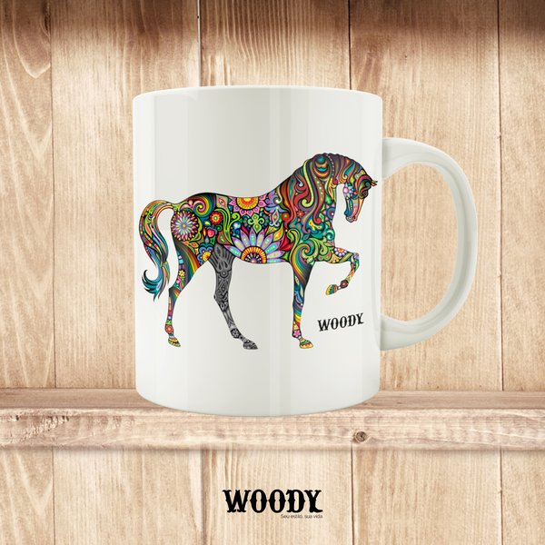 Caneca Colorful Horse - Woody