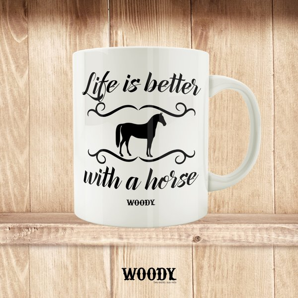 Caneca Life Is Better With a Horse  - Woody