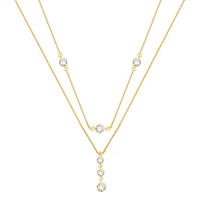 Colar Duplo Richesse com Pontos de Luz Folheado a Ouro 18k - New Bijoux ec7b79dd76