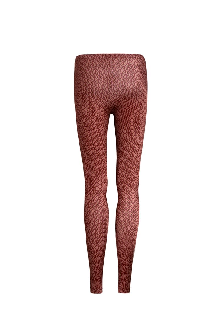 Legging Estampada Bridge Bordô