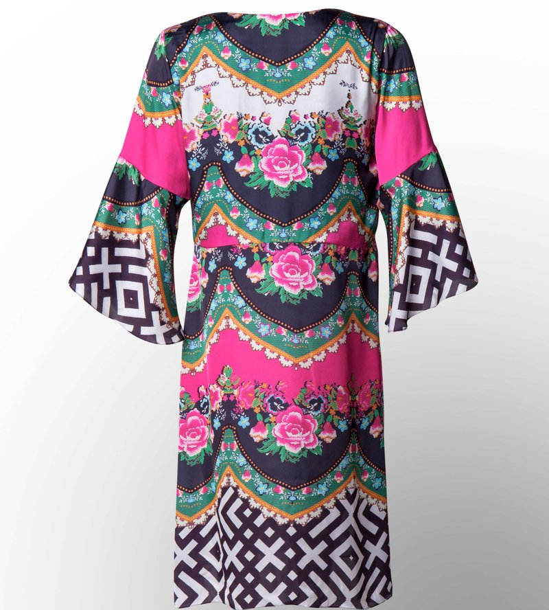 Resort Dress Geometic Pink