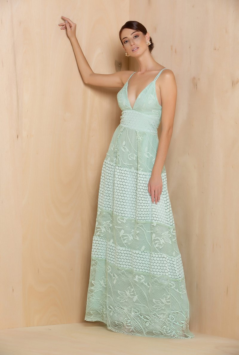 Vestido Fresh Mint Renda