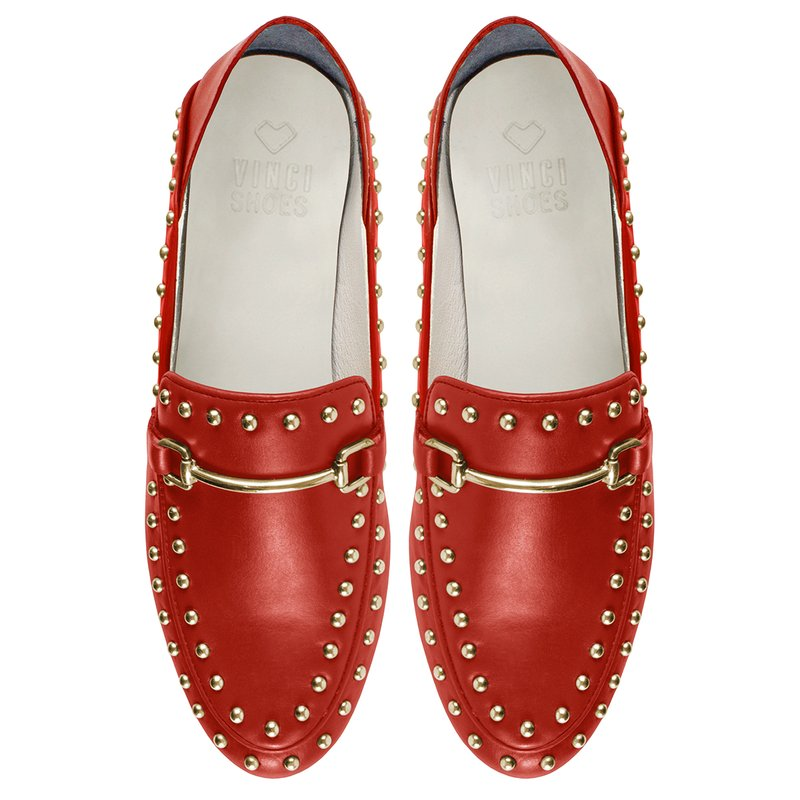 Loafer Boston Studded Red