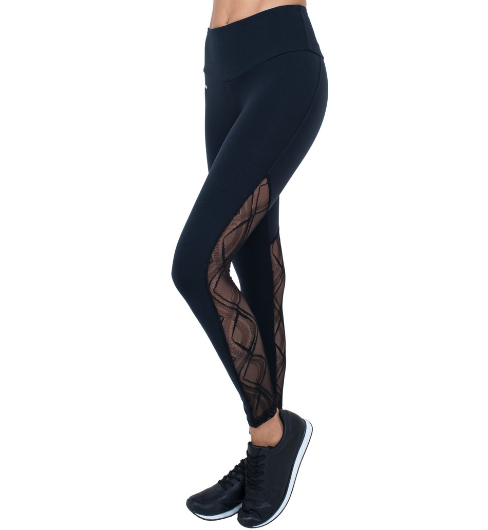 Legging Intense Black Tulle