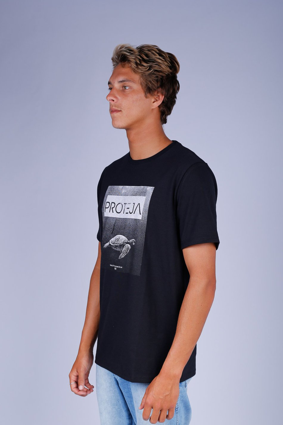 CAMISETA OCEANO ECO TARTARUGA KEEP RECICLE