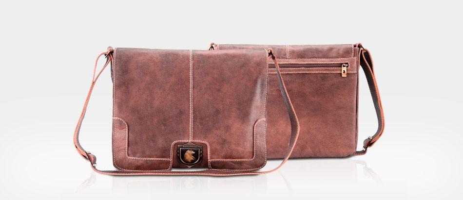 49fc90d0fa9 Bolsa de couro Nordweg para notebook estilo carteiro NW001 Vintage