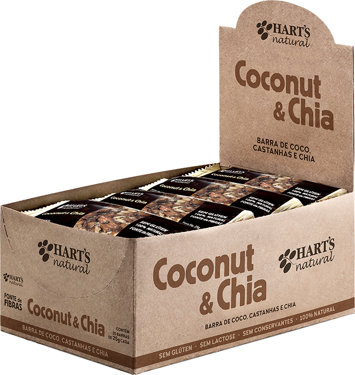 Display de Barra de Cereal Coconut & Chia