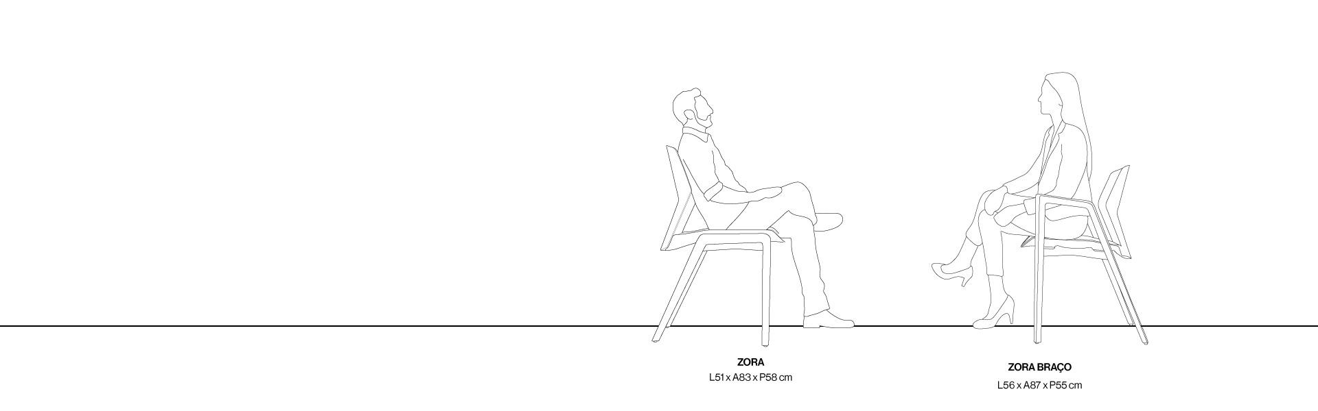 [Cadeira Zora sem braço] Gif Seção Modulos
