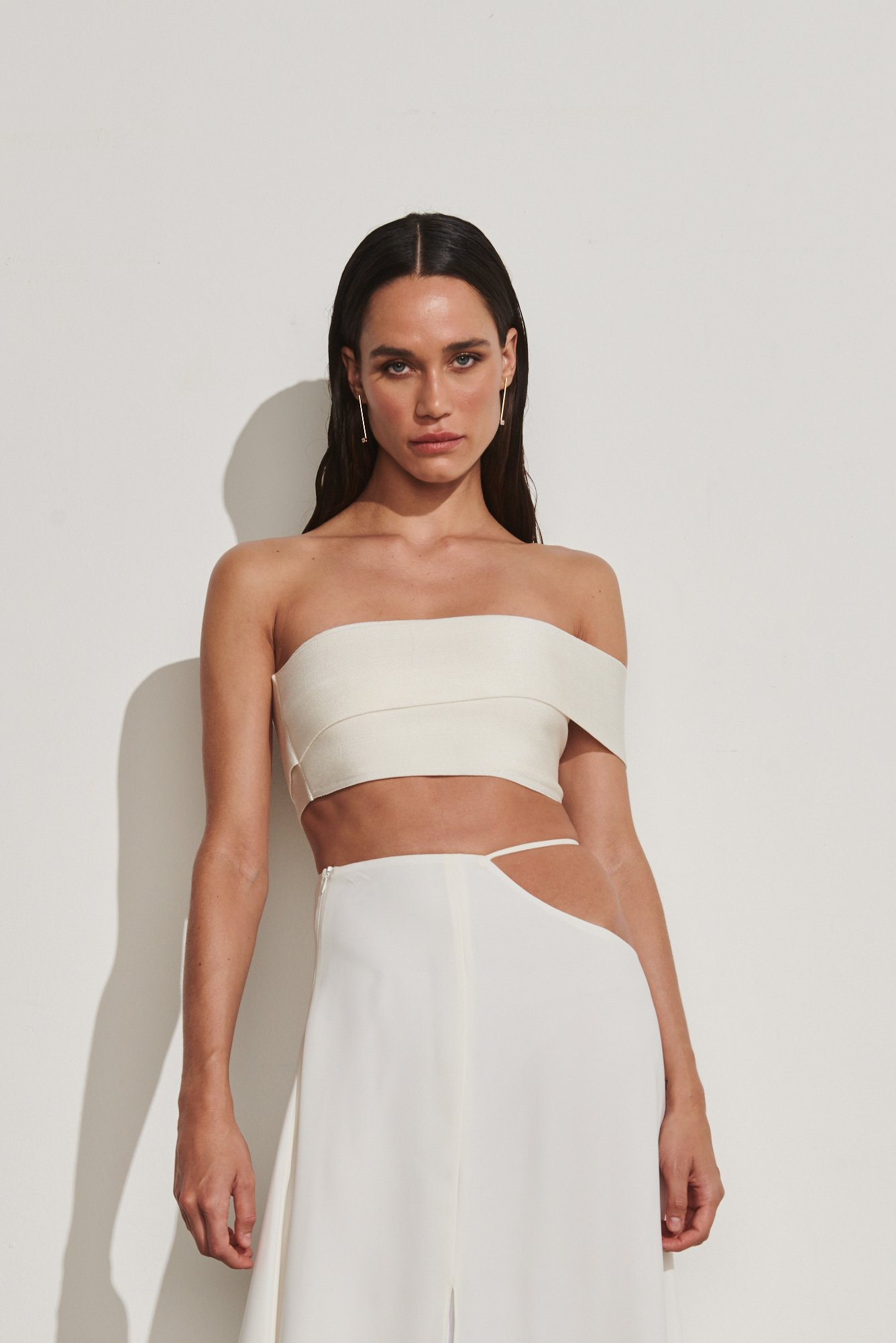 Cropped Tricot Krabi Off-White | Krabi Tricot Cropped Off-White